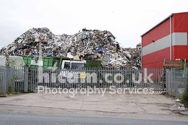 Brierley Hill RDF Waste Rubbish Pile