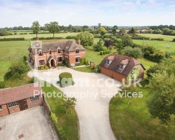 residential property with land and great views taken with elevated photography