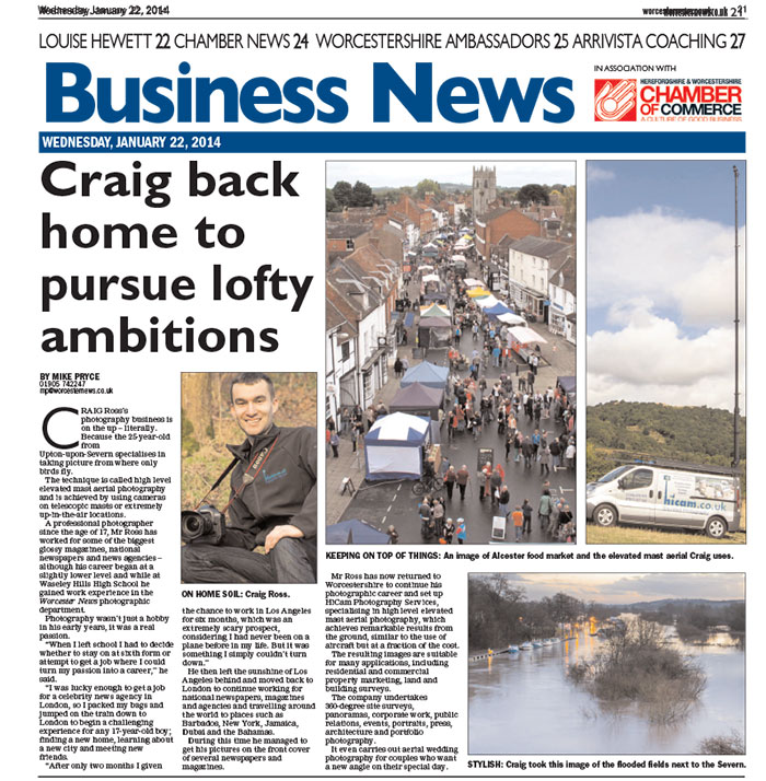 IN THE PRESS: Worcester News – Business Section